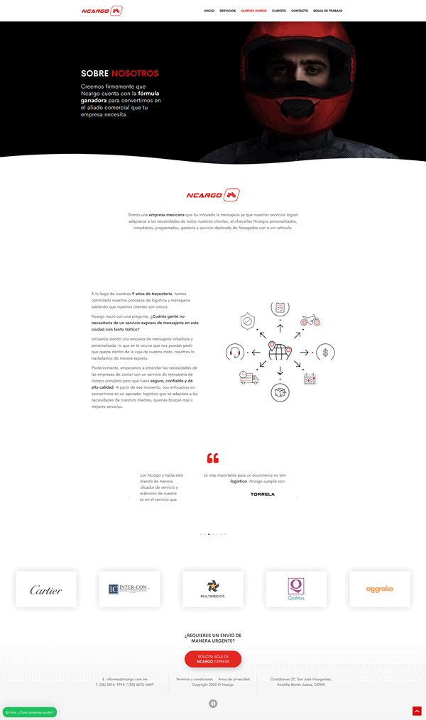 Caso de éxito desarrollo web - Ncargo 1