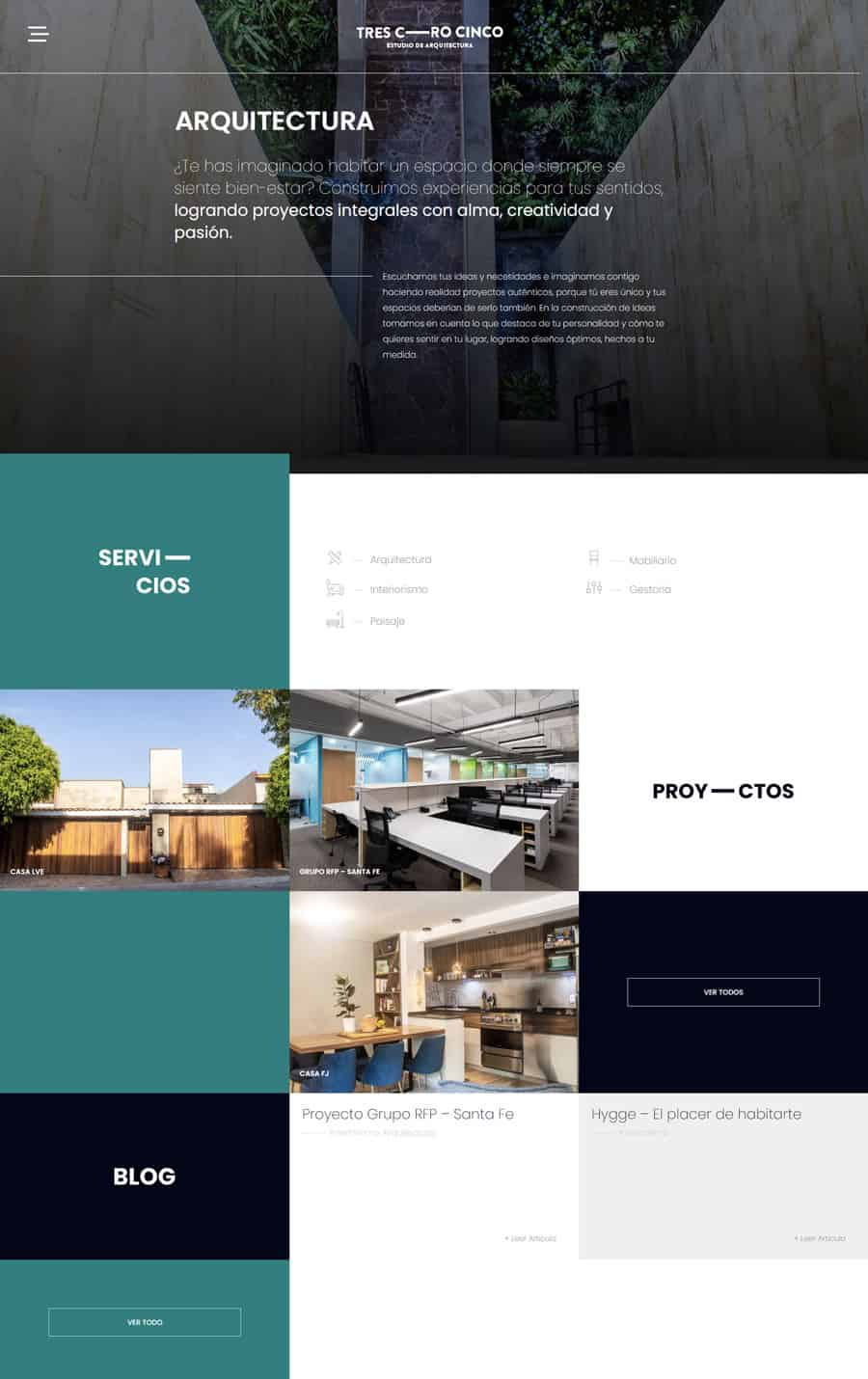Diseño Web Estudio de Arquitectura 305