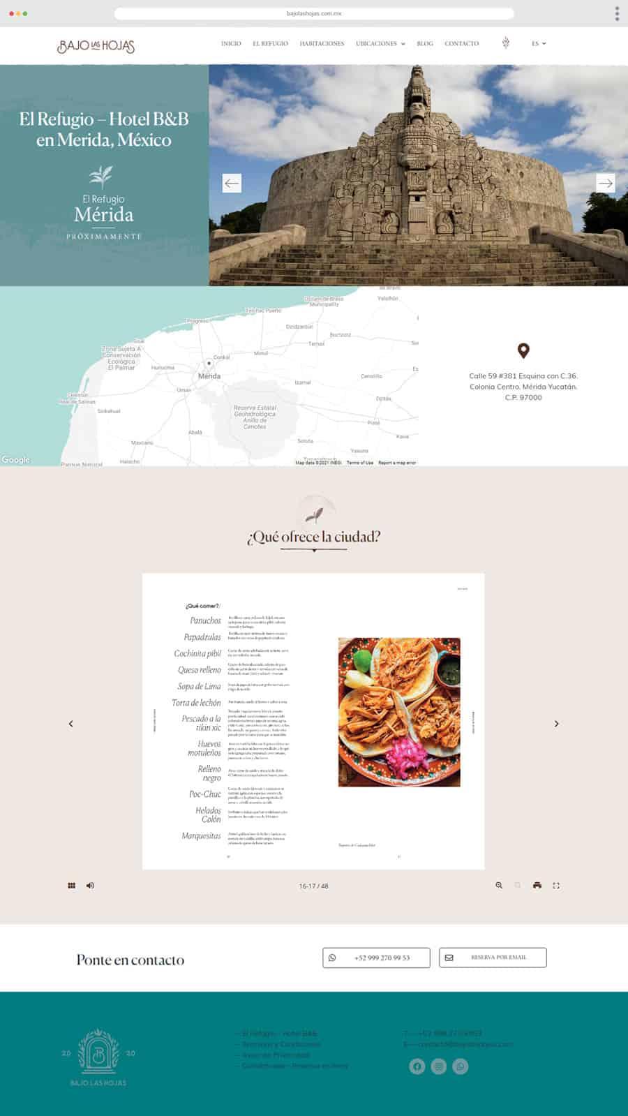 Diseño Web Bajo Las Hojas